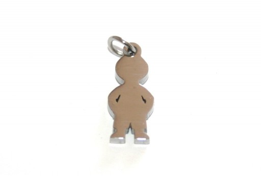 Stainless Steel Boy Charms 16x7mm -1pcs