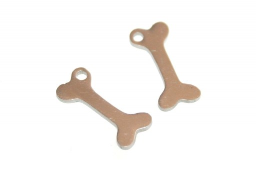 Stainless Steel Dog Bone Charms 15x7mm -2pcs