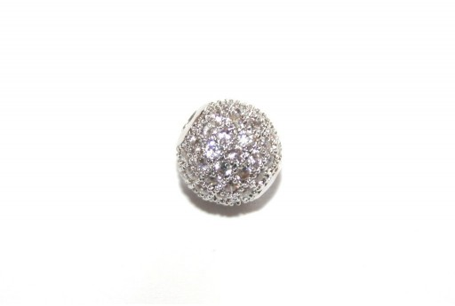 Cubic Zirconia Micro Pavè Tondo Crystal 8mm - 1pz