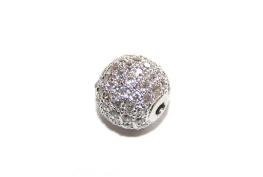 Cubic Zirconia Micro Pavè Tondo Crystal 10mm - 1pz