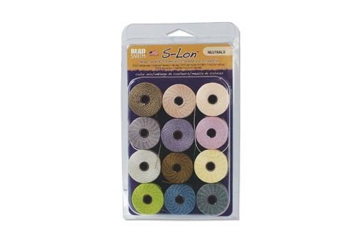 Super-Lon Bead Cord Mix Neutrals 0,5mm - 12pcs