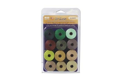 Super-Lon Bead Cord Mix40 Summer 0,5mm - 12pz