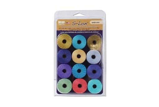 Super-Lon Bead Cord Mix60 Sand & Sea 0,5mm - 12pz