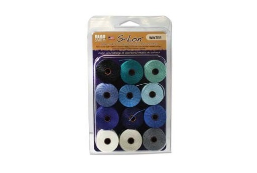 Super-Lon Bead Cord Mix Winter 0,5mm - 12pcs