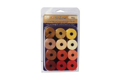 Super-Lon Bead Cord Mix Fall 0,5mm - 12pcs