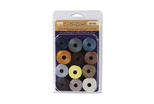 Super-Lon Bead Cord Mix80 Softies 0,5mm - 12pz
