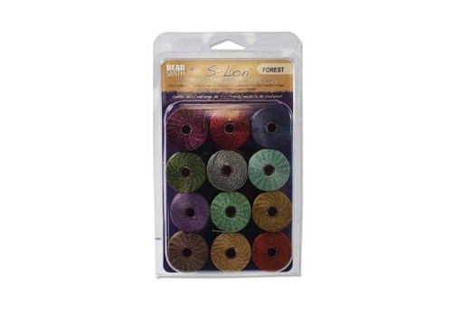Super-Lon Bead Cord Mix Forest 0,5mm - 12pcs