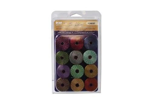 Super-Lon Bead Cord Mix70 Forest 0,5mm - 12pz
