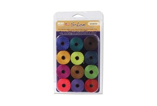 Super-Lon Bead Cord Mix Saturation 0,5mm - 12pcs
