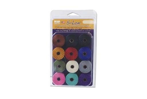 Super-Lon Bead Cord MixAG 0,5mm - 12pz