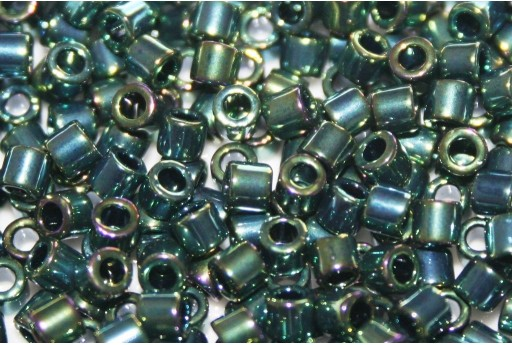 Miyuki Delica Seed Beads 8/0 - Metallic Green Luster - 8gr