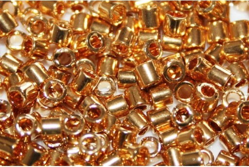 Miyuki Delica Seed Beads 8/0 - 24kt Gold Plated - 5gr
