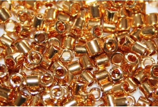 Perline Delica Miyuki 8/0 - 24kt Gold Plated - 5gr