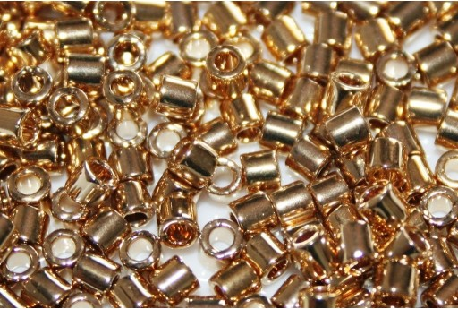 Miyuki Delica Seed Beads 8/0 - 24kt Light Gold Plated - 5gr