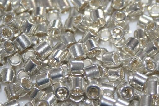 Miyuki Delica Seed Beads 8/0 - Metallic Galvanized Silver - 8gr
