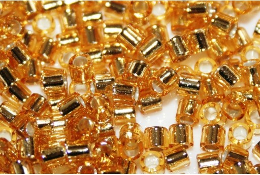 Miyuki Delica Seed Beads 8/0 - Silver Lined Gold - 8gr