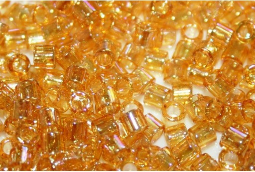 Miyuki Delica Seed Beads 8/0 - Transparent Light Amber AB - 8gr