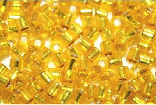 Miyuki Delica Seed Beads 8/0 - Silver Lined Yellow - 8gr
