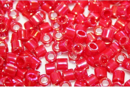 Miyuki Delica Seed Beads 8/0 - Opaque Red AB - 8gr
