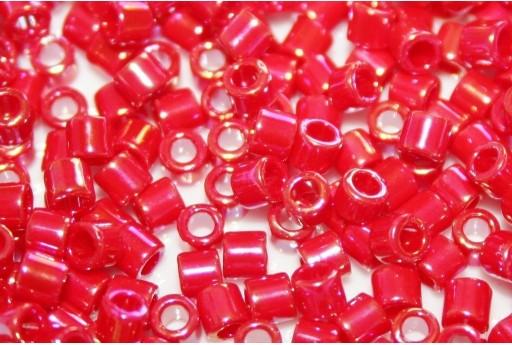 Perline Delica Miyuki 8/0 - Opaque Red AB - 8gr