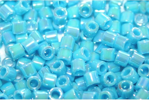 Miyuki Delica Seed Beads 8/0 - Opaque Light Blue AB - 8gr