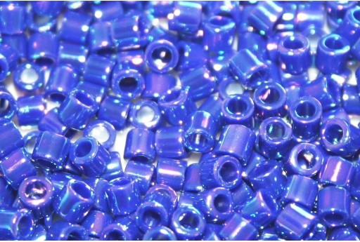 Miyuki Delica Seed Beads 8/0 - Opaque Royal Blue AB - 8gr