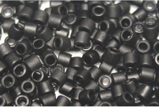 Miyuki Delica Seed Beads 8/0 - Black Matted - 8gr