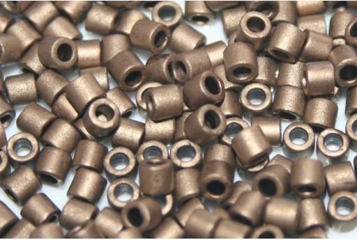 Perline Delica Miyuki 8/0 - Metallic Gold Matted - 8gr