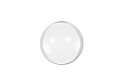 Clear Glass Cabochon Coin 14mm - 16pcs