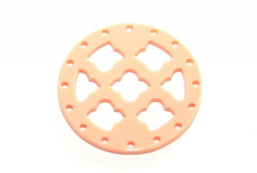 Laser Cut Round Connector Rose 27mm - 1pcs
