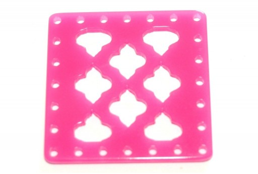 Laser Cut Connettore Quadrato Pink 30mm - 1pz