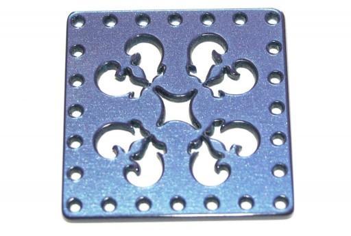 Laser Cut Square Connector Blue 30mm - 1pcs