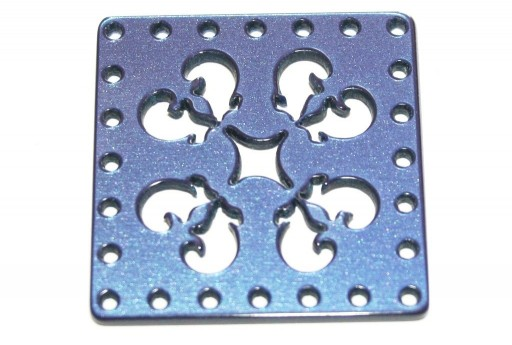 Laser Cut Connettore Quadrato Blue 30mm - 1pz