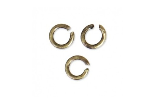 Brass Jump Rings Bronze 5x0,8mm - 30pcs