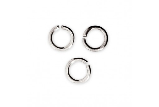 Brass Jump Rings Silver 6x0,8mm - 30pcs
