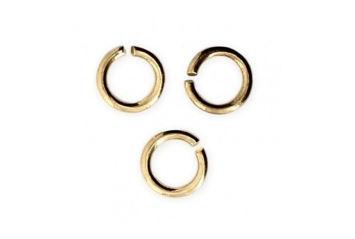 Brass Jump Rings Gold 6x0,8mm - 30pcs