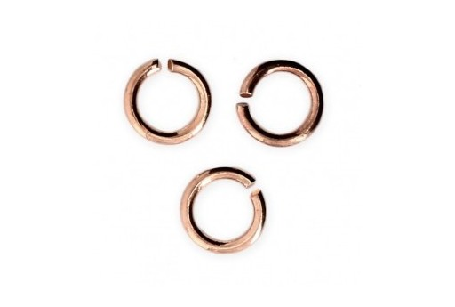 Brass Jump Rings Rose Gold 6x0,8mm - 30pcs