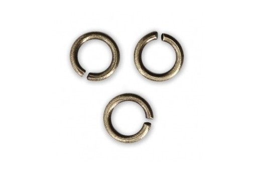 Brass Jump Rings Bronze 6x0,8mm - 30pcs