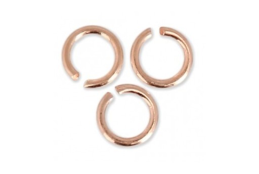 Rose Gold Jump Rings 8x0,7mm - 10pcs