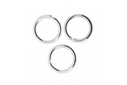 Brass Jump Rings Silver 10x1,2mm - 20pcs