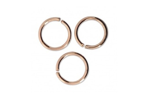 Brass Jump Ring Rose Gold 10x1,2mm - 20pcs