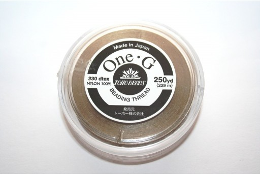 Toho One-G Nylon Thread 0,20mm Sand Ash 229m