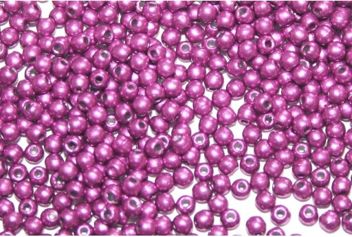 Tondi Vetro di Boemia Saturated Metallic Pink Yarrow 2mm - 150pz