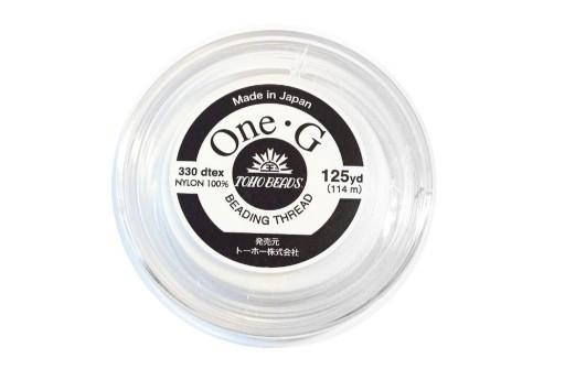 Toho One-G Nylon Thread 0,20mm White 125yd