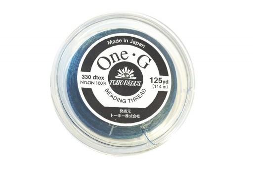 Toho One-G Nylon Thread 0,20mm Blue 125yd