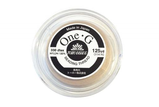Toho One-G Nylon Thread 0,20mm Beige 125yd