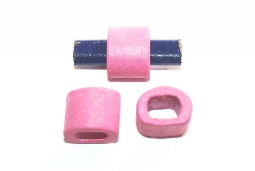 Regaliz Ceramic Slider Beads Pink 15x19mm - 2pcs