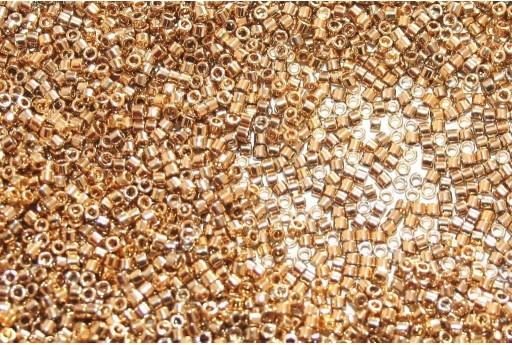 Miyuki Delica Beads 24 Karat Light Gold Plated 11/0 - 5gr
