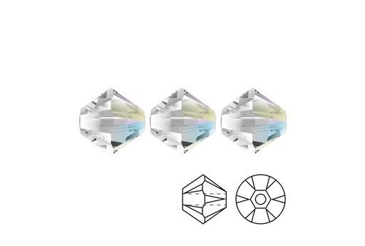 Swarovski Bicones 5328 Crystal Shimmer 6mm - 6pcs