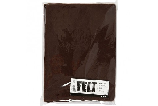 Soft Felt Brown 2mm 21x30cm 10 sheets